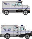 Polizeiwagen auf einem weißen Hintergrund in einer flachen Art Lizenzfreie Stockbilder