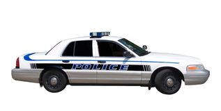 Polizeiwagen getrennt Lizenzfreie Stockbilder