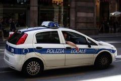 Polizeiwagen, Italien stockbild
