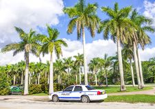Polizeiwagen in Miami Lizenzfreie Stockfotos
