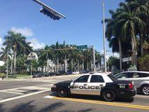 Polizeiwagen in Miami Beach Lizenzfreies Stockfoto