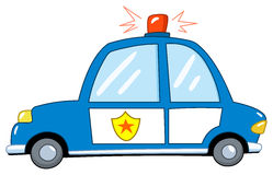 Polizeiwagenkarikatur Lizenzfreie Stockfotos