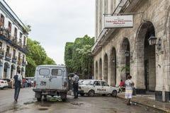 Polizeiwagenpolizeirevier Havana Stockfotografie