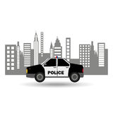 Polizeiwagenstadt-Hintergrunddesign Stockfotografie