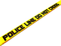 Polizeizeile kreuzen nicht Lizenzfreies Stockbild