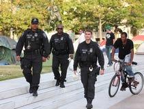 Polizia alla plaza di libertà, CC del DHS Fotografia Stock