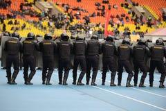 Polizia allo stadio Fotografia Stock Libera da Diritti