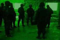 Polizia antiterroristica di sottodivisione Immagine Stock