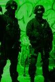Polizia antiterroristica di sottodivisione Fotografia Stock Libera da Diritti