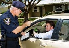 Polizia - azionamento potabile Fotografia Stock Libera da Diritti