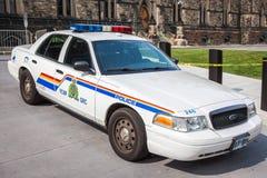 Polizia a cavallo canadese - volante della polizia Fotografia Stock