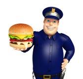 Polizia con l'hamburger royalty illustrazione gratis