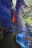 Polizia del lago waterfall di Varone Fotografia Stock Libera da Diritti