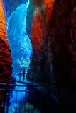 Polizia del lago waterfall di Varone, vista della gola di Varone, Trentin Fotografia Stock