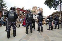 Polizia del Nepal immagini stock libere da diritti