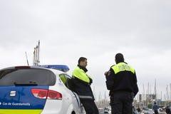 Polizia del porto Fotografie Stock