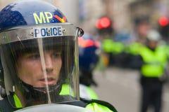 Polizia di tumulto Fotografia Stock