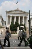 Polizia di tumulto di Atene Fotografie Stock