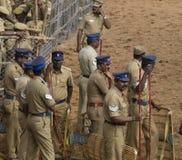 Polizia di tumulto indiana Fotografia Stock Libera da Diritti