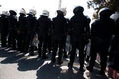 Polizia di tumulto palestinese Fotografia Stock Libera da Diritti