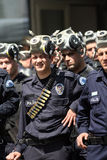 Polizia di tumulto turca Fotografia Stock Libera da Diritti