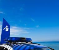 Polizia e contrassegno dell'automobile a Barcellona Spagna Fotografie Stock Libere da Diritti