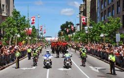 Polizia e RCMP in giorno del Canada Fotografie Stock Libere da Diritti