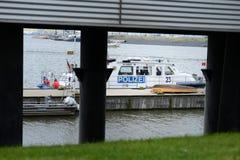 Polizia fluviale tedesca Immagine Stock