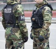 Polizia militare Fotografia Stock Libera da Diritti