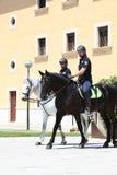 Polizia montata Immagini Stock