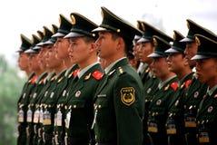 Polizia munita della gente della parata della Cina Immagini Stock Libere da Diritti