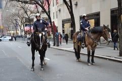 Polizia New York del cavallo Fotografia Stock