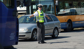 Polizia stradale II Immagini Stock Libere da Diritti