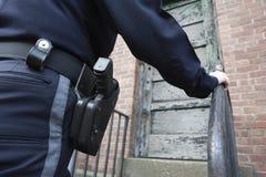 Poliziotta sulla pattuglia. Fotografia Stock Libera da Diritti