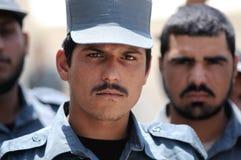 Poliziotti afgani Fotografie Stock Libere da Diritti