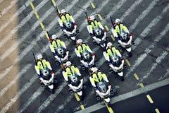 Poliziotti che guidano i motocicli Fotografie Stock