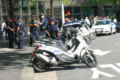 Poliziotti di New York Fotografie Stock