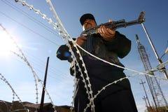 Poliziotti iracheni a Kirkuk Fotografia Stock Libera da Diritti