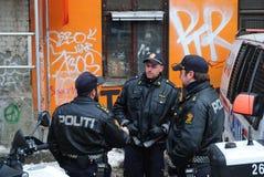 Poliziotti norvegesi Immagine Stock