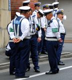Poliziotti in servizio Immagini Stock