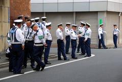 Poliziotti in servizio Fotografia Stock Libera da Diritti