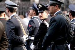 Poliziotti in uniforme Fotografia Stock
