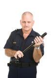Poliziotto con il Nightstick Fotografie Stock Libere da Diritti