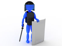 Poliziotto con una mazza ferrata #1 Immagini Stock