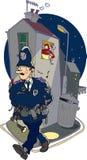 Poliziotto del fumetto Fotografia Stock Libera da Diritti