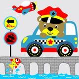 Poliziotto dell'orso royalty illustrazione gratis