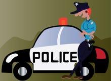 Poliziotto della ragazza Immagine Stock
