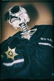 Poliziotto di scheletro Fotografia Stock