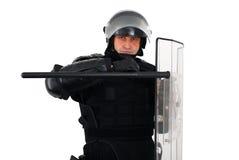 Poliziotto di tumulto Fotografia Stock Libera da Diritti