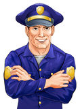 Poliziotto felice Fotografie Stock
